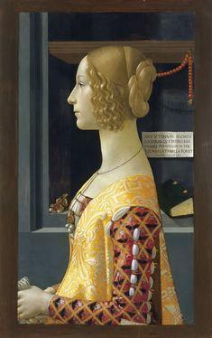 Domenico Ghirlandaio ( 1449-1494, Italian Early Renaissance Painter Portrait of Giovanna Tornabuoni. 1489-90