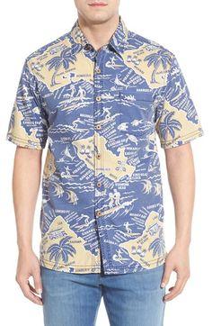 Kahala 'Where To' Regular Fit Print Short Sleeve Sport Shirt