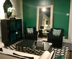 Green, black with white, brass.  Showroom M1 J12 first floor of the mart at furnitureland South