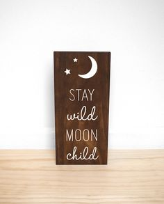 Stay Wild Moon Child Wood Sign, Boho Baby Shower Decorations, Gender Neutral Baby Gift, Boho Nursery Wall Decor - Decoration For Home