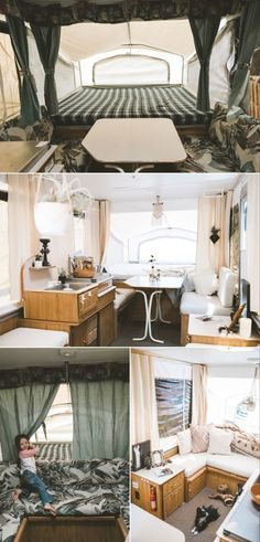 45 ideas pop up camper remodel before and after for 2019 Popup Camper For Sale, Camper Diy, Popup Camper Remodel, Camper Renovation, Campers For Sale, Camper Interior, Camper Ideas, Camper Remodeling, Camper Tricks