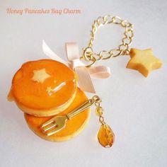 星蜜パンケーキのバッグチャーム(リボンピンク)