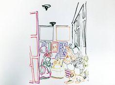 """Saatchi Art Artist Zoran Poposki; Drawing, """"Study of Las Meninas (Velazquez)"""" #art"""