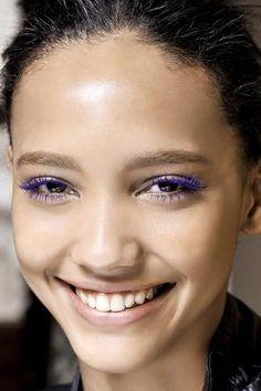 Violet lashes.