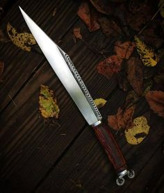 By Baltimore Knife and Sword Co. Seax Knife, Forged Knife, Dagger Knife, Swords And Daggers, Knives And Swords, Knife Template, Viking Sword, Cool Knives, Handmade Knives