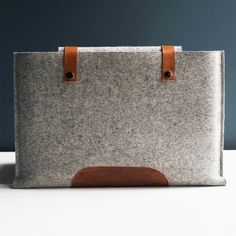 felt and leather laptop case