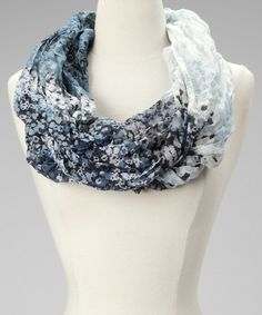 Take a look at this Royal Blue Floral Infinity Scarf by The WISH Collection on #zulily today!