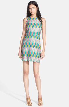Milly Woven Sheath Dress | Nordstrom... Love the pattern on the dress... Even if it was a maxi dress It would be lovely.