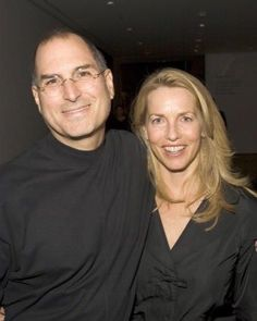 Steve Jobs with his wife Laurene.