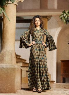#green #colourful #rayon #print #gowns | green colourful gowns | rayon fabric gowns | printed gowns | occasional wear |