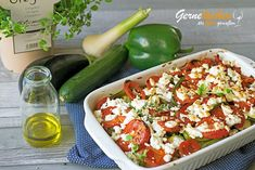 Foodblog: Briám – Gemüseauflauf mit Feta Moussaka, Tzatziki, Slow Cooking, Cobb Salad, Feta, Gratin, Mediterranean Style Kitchen Designs, Food And Drinks, Food Food