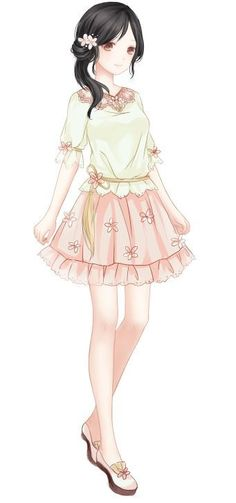 Younger more dainty Tiffany Anime Outfits, Girl Outfits, Cute Outfits, Anime Chibi, Kawaii Anime, Anime Art, Beautiful Anime Girl, I Love Anime, Manga Girl