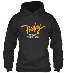Friday Jet Black Sweatshirt Front