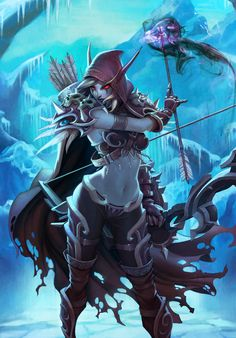 Sylvanas (WoW TCG), Arnold Tsang on ArtStation at http://www.artstation.com/artwork/sylvanas-wow-tcg