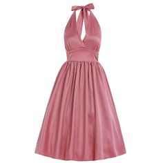 'Marilyn' Blush Pink Occasion Swing Dress