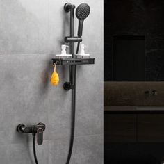 Antique Shower Tap Black Bronze Brass Bathroom Waterfall Shower Set With Shelves TB0268