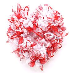 How to make our Valentines Heart Deco Mesh Wreath!  by Creative Gift Packaging Inc.