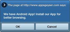 AppsGeyser / Dashboard / Distribute / Self