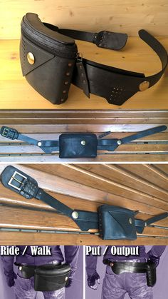 "Unique functionality - easy sliding from ""ride/move"" to ""put/output"". Leather of different thickness for full ergonomic.   utility belt solid brass mad max style tactical belt  moto wear sportsters motorcycle utility bag edc motofashion caferacers motoculture burning man style hip bag waist bag waist belt hip holster"