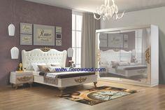 Avangarde wardrobe bed gold furniture nerowood from inegöl mobilya