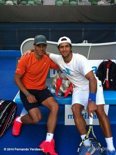 Fernando Verdasco and Rafael Nadal Photo