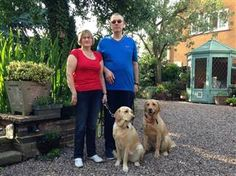 """Great story about two service dogs who helped """"guide"""" their owners to true love!"""