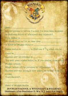 Harry Potter Party Printables Invitations Harry Potter Party In