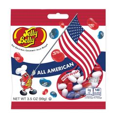 JELLY BELLY CANDY -  PATRIOTIC CANDIES - RED WHITE BLUE JELLY BEANS - 3.5oz Bag #JellyBelly #PatrioticJellyBellyJellyBeans