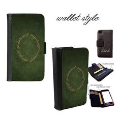 iPhone and Galaxy leather wallet case - Lord of the Rings LOTR