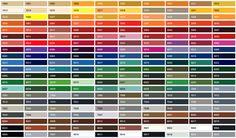 Cet article est destiné à vous présenter tous les codes couleurs proposés. Cela s'appelle un nuancier RAL. Lorsque vous choisissez votre verre, nous vous proposons un vaste choix de coloris. Afin d'y voir plus clair, nous mettons à disposition cet outil, n'hésitez pas à laisser vos commentaires si besoin: D'abord voici tous les codes couleurs...