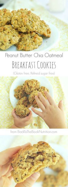 Who wouldn't want super soft peanut butter cookies for breakfast? And these are gluten free, refined sugar free, and give you a boost of fiber and healthy fat you can feel good about too! | Back To The Book Nutrition
