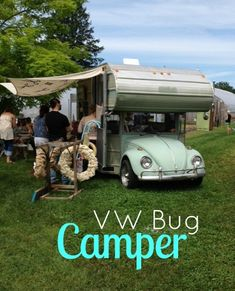 Vintage VW Bug camper. SO COOL! I didn't eve know these existed!