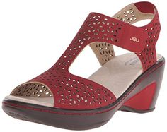 JBU Women's Chloe Wedge Sandal, Red, 9 M US: Easy to use, and adjustable closures Chloe Wedges, Wedge Sandals, Wedge Shoes, Womens Fashion Sneakers, Fashion Shoes, Adidas Shoes Women, Casual Shoes, Shoe Boots