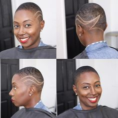 Now this cut is fierce! We might need to make a visit to for a new look! Natural Hair Short Cuts, Short Natural Haircuts, Short Hair Cuts, Natural Hair Styles, Short Hair Styles, Dreads, Twa Hairstyles, Wedding Hairstyles, Shaved Hair Designs