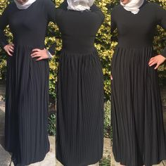 "5 Likes, 1 Comments - Allure.Abayas (@allure_abayas) on Instagram: ""Beautiful and simple abaya come in two colours black and navy blue, has pleats from waist down…"""