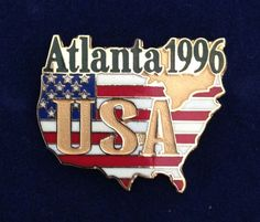 US Olympic Pin Atlanta 1996 USA Georgia United States Sports Collectable Country