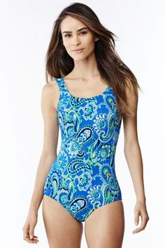Women's Tugless One Piece Swimsuit Soft Cup from Lands' End