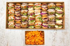 Christmas in July Slider Collection Catering Menu, Office Catering, Best Food Photography, Food Packaging Design, Picnic Foods, Food Platters, Food Design, Appetizer Recipes, Love Food