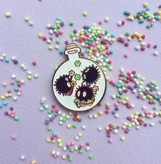 This is the listing for the SootPotion hard enamel pin! The pin is glitter and hard enamel with gold linings! Perfect for any ghibli lover! Bag Pins, Glitter Fashion, Little Presents, Jacket Pins, Hard Enamel Pin, Cool Pins, Pin And Patches, Studio Ghibli, Pin Badges