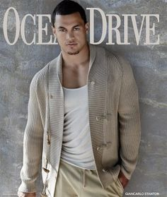 Giancarlo Stanton Lands Cover of Ocean Drive Magazine