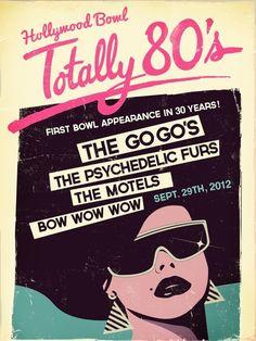 Hollywood Bowl Totally 80's Concert Posters by Kittaya Treseangrat, via Behance