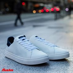 Think of your white sneakers like an empty canvas: made for a flamboyantly colorful outfit. Bata Shoes, Men's Shoes, Colourful Outfits, Colorful, Empty Canvas, Canvas Sneakers, White Sneakers, Shoe Collection, Moccasins