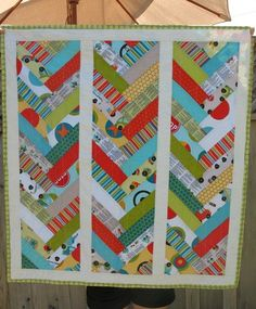Pattern is from the Missouri Star Quilt Co. using their binding tool - really effective for any jelly roll