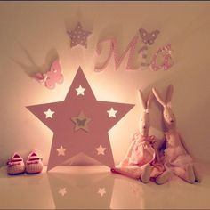 Lampen - Wandlampe Schlummerlicht Stern  - ein Designerstück von PinkyKiky bei DaWanda