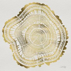 Gold Tree Rings artwork by Cat Coquillette