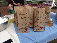 Robot gift bags