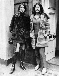 1970 fashionable girls taken on Grafton st