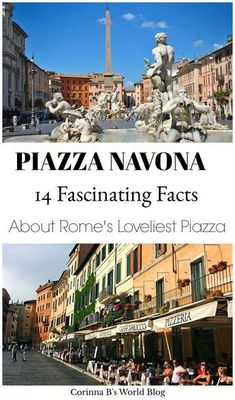 14 Fabulous Facts You Need To Know About Piazza Navona. Piazza Navona is Rome's loveliest piazza. With a history that includes a Pope named Innocent, some ghosts, rival sculptors and a femme fatal, Navona is completely fascinating! Check out these 14 incr European Vacation, Italy Vacation, European Travel, Italy Trip, Oh The Places You'll Go, Cool Places To Visit, Places To Travel, Italy Travel Tips, Rome Travel