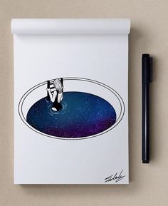Nightthoughts - Stars Themed Illustrations by Muhammed Salah