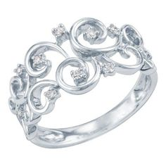 1/10ct TW Round Diamond Ring available at #HelzbergDiamonds
